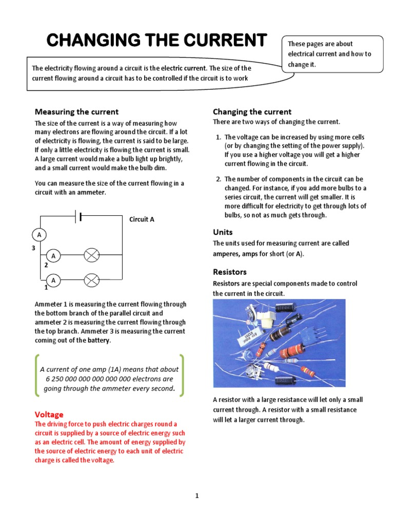 3 Changing The Current Note Series And Parallel Circuits Bulbs In Circuit Electric