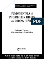 Fundamentals of Information Theory and Coding Design