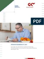 Präventionsbericht 2015 - GKV Spitzenverband