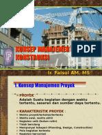 i.konsep Manajemen Proyek Konstruksi
