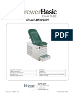 Basic Exam Table Manual - Brewer 4000_4001