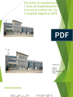 La Relación Entre La Arquitectura Hospitalaria Del Área