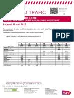 Tours-Vendôme-Châteaudun-Paris Du 19 Mai 2016
