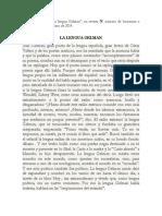 Monteleone - La Lengua Gelman. Revista Ñ