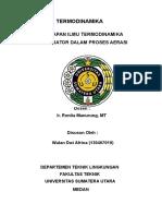 Penerapan Termodinamika Dalam Teknik Lingkungan (130407019)