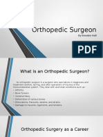 orthopedic surgeon career research project