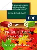 Model de prezentare de clasa