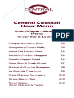 Central_happy Hour Food Spring 2016