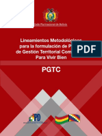 Lineamientos Metodológicos Elaboracion Plan Gestion Territorial Comunitaria Para Vivir Bien