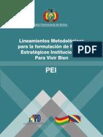Lineamientos Metodológicos Plan Estrategico Institucional Paara Vivir Bien