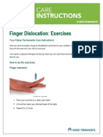 Finger Dislocation Exercises