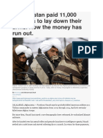 Afghanistan Paid 11,000 Militants to Lay Down Arms Now Money Run Out WASH POST MAY 17 2016