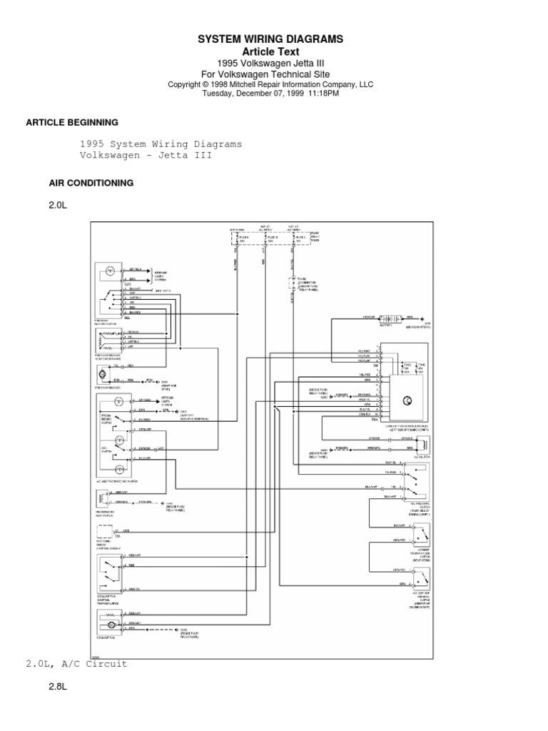 Diagrama Electrico Completo Jetta 95 mk3 vr6 descargar | Volkswagen |  Automotive IndustryScribd