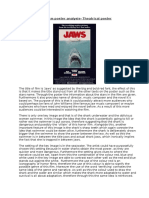 Jaws theatrical Film Poster Analysis