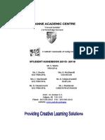 St Anne Student Handbook 2015 2016