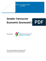 Greater Vancouver Economic Scorecard 2016