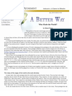 A Better Way (July 2010/ ISSUE #103)