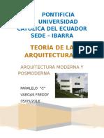 Arquitectura Moderna y Posmoderna