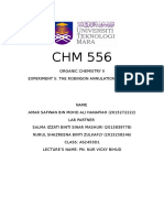 Chm 556 Experiment 5
