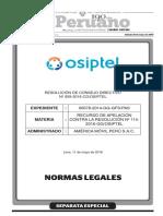 Resoluciones OSIPTEL