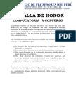 Medalla de Honor - Convocatoria 2016