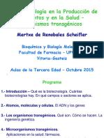 1.- Biotecnología Agroalimentación Salud - 2015