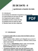 C-10.BAZE DE DATE - II