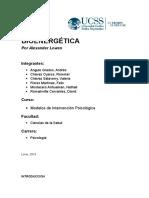 BIOENERGETICA monografia