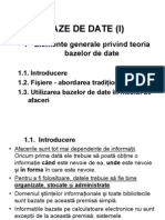 C-9.BAZE DE DATE - I