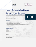 Invensis Learning ITIL Foundation Examination Full Length Practice Test ITIL Training
