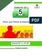 (772822568) Charlas  Nø 1 a  Nø 25