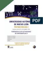 Portafolio de Actividades Matematicas II.