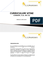 Curriculum Conash S.a. de C.v 2016