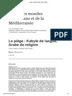 Le piège_ Kabyle de langue, Arabe de religion