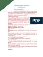 Especificaciones Técnicas Para Municipio