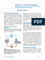 Car Wash Water Reuse - Brazilian Experience