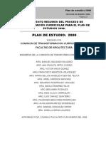 Arquitectura Plan de Estudios del año 2000