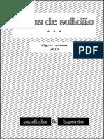 Letras de Solidão (2010) - Poemas por b.ponto e Paulinha