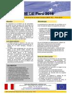 Información General para la segunda vuelta electoral - MOEUE Perú 2016