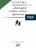 Edmund Husserl - La philosophie comme science rigoureuse.pdf