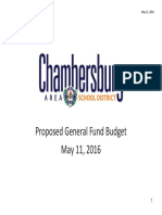 CASD's 2016-2017 Proposed Budget