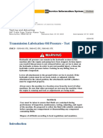 Transmission Lubrication Oil Pressure Test
