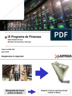 Presentación Programa de Finanzas 2016-I