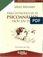 Para Introducir Al Psicoanálisis Hoy en Día [Charles Melman]