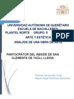 Analisis de La Pintura Pantocrator Del Ábside de San Clemente de Taüll Lleida