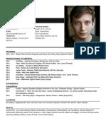 Actor's CV template