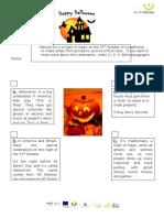 Celebrating Hallowe'en! - reading comprehension.doc