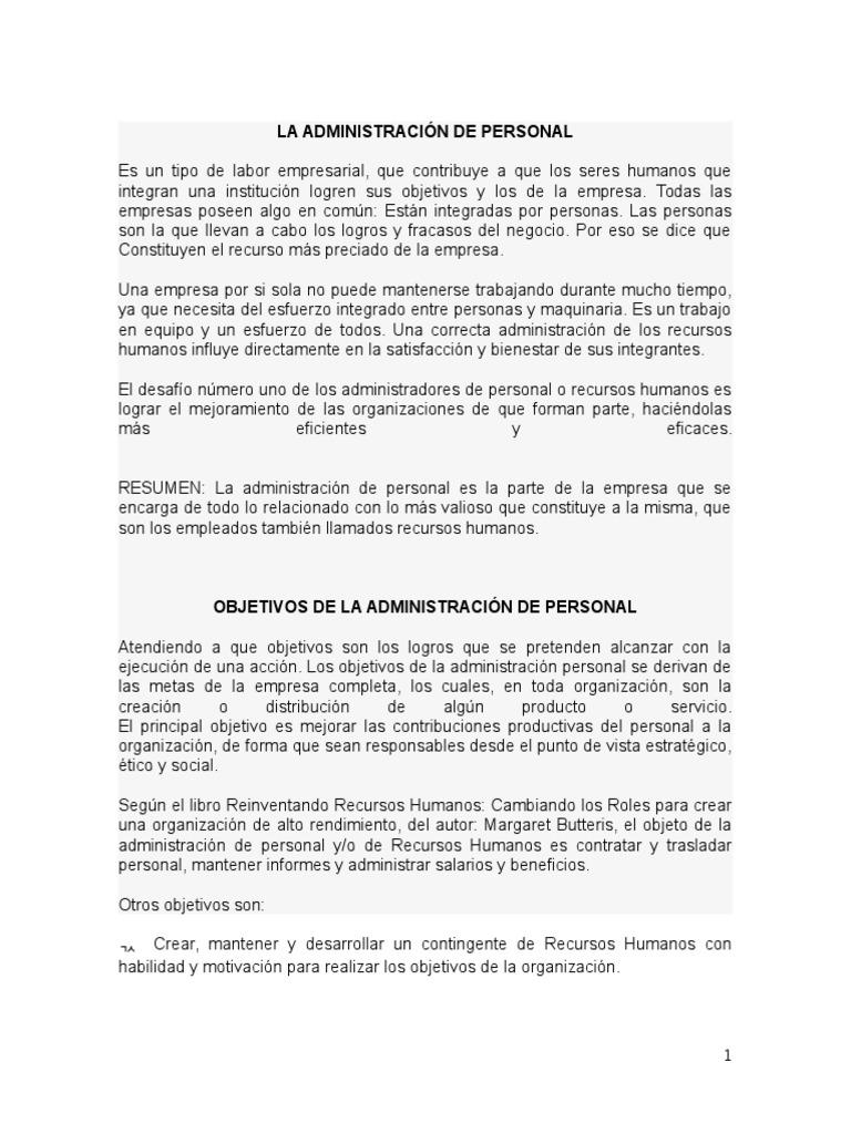 Único Objetivo De Resumen De Administrador Ornamento - Ejemplo De ...