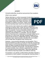 Task 2 Model Academic v Pragmatic