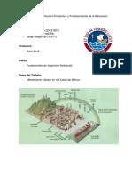 Informe de Metabolismo Urbano en La Ciudad de México - Grupo 11